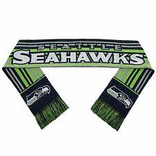 Seattle Seahawks Scarf Knit Winter Neck - Double Sided Glitter Stripe 2016