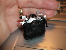 FILLED LEATHER DR. BAG  - DOLL HOUSE MINIATURE
