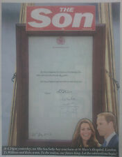 ROYAL BABY GEORGE.WILLIAM & KATE.THE SUN SOUVENIR ENGLISH NEWSPAPER.JULY 23 NEW
