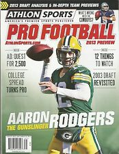 2013 ATHLON SPORTS PRO FOOTBALL 2013 PREVIEW AARON RODGERS GREEN BAY PACKERS