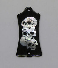 Truss Rod Cover with Triple Skull Inlay will fit Gibson