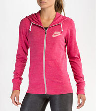 Nike Women's GYM VINTAGE Hoodie LITE SUMMER SWEATSHIRT XS PINK NWT ZIP UP 813872