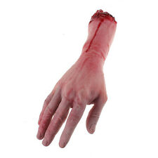 Horrible Bloody Fake Rubber Gory Severed Body Part Hand Arm Halloween Prop New