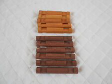 "11 Pieces Lincoln Logs 2 Notch 4 1/2"" 5 Honey & 6 Dark Color"