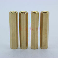 10PCS M4x45mm Female Hexagon Brass Standoff Spacer Nut Screw For PCB Mounting