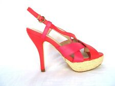 Vintage look Red Strappy platform Sandals Slingback Shoes 4 5 6 - 37 38 39 New