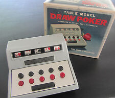Vintage Table Model Draw Poker Game Cordless Battery Operated w/ orig box