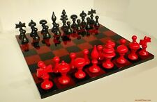 LEONARDO DA VINCI CHESS SET (c. 1500) with HIGH GLOSS RED BRIAR BOARD (812)