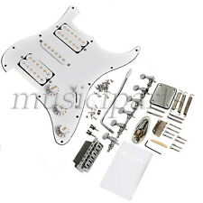 Electric Guitar Loaded Bridge Pickguard Tremolo Knob for Strat Replacement White