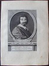 JEAN LOUIS GUEZ SIEUR DE BALSAC..... A Paris , Desrochers. Portrait. Gravure ori
