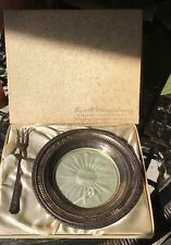 """Antique Frank M. Whiting Sterling Silver .925 6.5"""" Wine Coaster Talisman Rose"""
