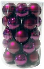 Brauns-Heitmann 86666 Glass Christmas Tree Bauble Set XL 6 cm 30 Pieces Purple M