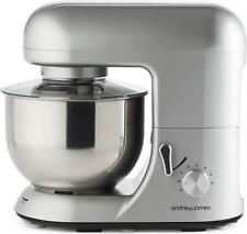 Andrew James 5.2 Litre Electric Food Stand Mixer & Splash Guard In Silver 800W