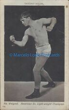 SPORTS BOXING AD. WOLGAST AMERICAN EX. LIGHT WEIGHT CHAMPION  124