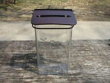 Mailbox Clear Glass Metal Front Porch Postal Letter Vintage Home Cabin Decor