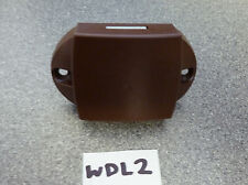 Caravan Motorhome wardrobe door brown push button lock - rod version WDL2