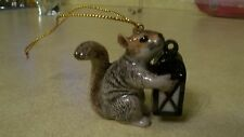 Colonial Williamsburg Porcelain Squirrel & Lantern Hanging Ornament Collectibles