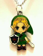 The Legend of Zelda Link figure pendant chain necklace 18 inch hyrule shield