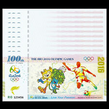 Lot 10 PCS, Brazil Rio Olympic Games Fancy Test Note, 2016, UNC