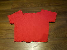 PRIMARK red gypsy style crop top Size 12