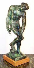 Schöne AKT BRONZE Skulptur ADAM signiert AUGUSTE RODIN