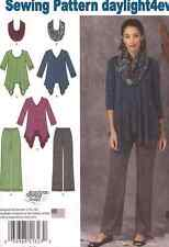 Women Knit Tunic Top Pants Infinity Scarf Sewing Pattern 1323 New Size 6-14 q