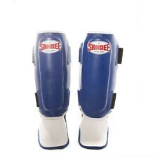 Sandee Kids Muay Thai Shin Guards Blue/White X-Small Thai Boxing Shin Pads