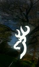 "Stk#18 Browning Buck Deer Decal Sticker, White 5"" High, Quality Vinyl. Free Ship"