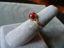 Antique Chinese Honey  Amber  Silver Gilt Ring SIZE 6 1/4