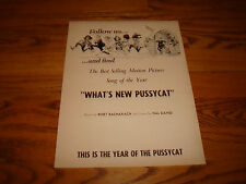 WHAT'S NEW PUSSYCAT 1965 Oscar ad Burt Bacharach & THE SOUND OF MUSIC Best Score