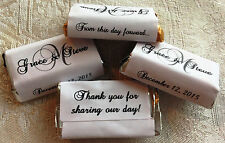180 MONOGRAM WEDDING Candy wrappers/stickers/labels FAVORS 4 HERSHEY MINIATURES
