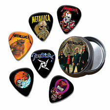 Metallica Set of 6 Loose Guitar Picks in Tin ( Collection D )