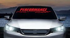 Performance Racing,  JDM windshield banner vinyl decal, sticker, car, trucks
