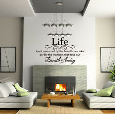 Home Decor Life Is Not Measured Removable Wall Decals Stickers Quotes Vinyl Art