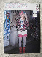 FRUITS MAGAZINE NO. 140 3 2009 FASHION JROCK JAPAN EMO VISUAL KEI COSPLAY LOLITA