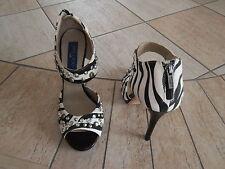JIMMY CHOO H&M High Heels Sammler Strass 40 Party Sandaletten Pumps Zebra Print