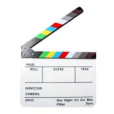 Colorful Acrylic Clapboard TV Movie Video Film Action Clapperboard Slate Clap