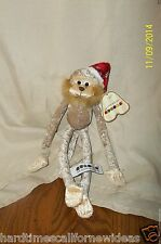 Aurora Jungle Bells Monkey Ornaments Christmas Plush Item #09233