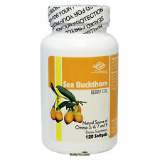 Sea Buckthorn Berry Oil, Natural Source of Omega 3,6,7,9 120 SGels, FREE SHIP