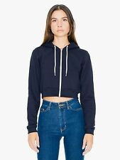 American Apparel Cropped Flex Fleece Zip Hoodie