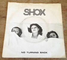 SHOX no turning back*lying here 1980 UK BEGGARS BANQUET PS SYNTH 45.