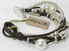 UNO DE 50 Pearl and Bead Layered Bracelet