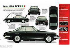 1968/1969/1970 FERRARI 365 GTC SPEC SHEET / Brochure / Pictures