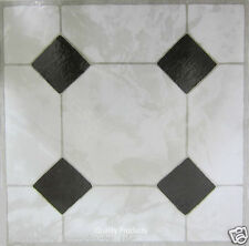 60 x Vinyl Floor Tiles - Self Adhesive - Bathroom Kitchen, BNIB, Ceramic 311652
