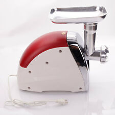 USA 2000W Home Electric Meat Grinder Sausage Stuffer Stainless Cutter Home