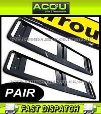 2x Calidad negro plástico ABS de matriculación de automóviles de la placa de sonido envolvente soporte del bastidor