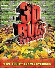 Adesivo 3d Bug BOOK-Include Occhiali 3d PLUS adesivi e attività