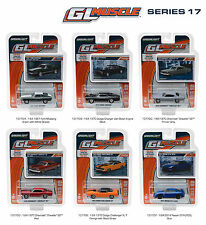 GREENLIGHT MUSCLE SERIES 17, SET OF 6 CARS 1/64 DIECAST CARS BY GREENLIGHT 13170