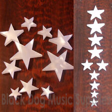Set of ten star shaped Pearloid guitar fingerboard position markers  inlays dots