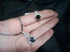 BLACK AND WHITE DIAMOND RING AND NECKLACE. ON SALE!